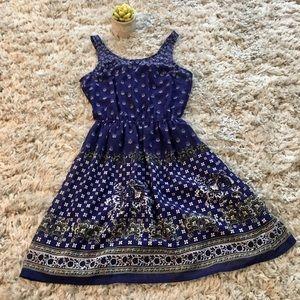 Multicolored summer slip dress